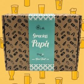 Regalo Cerveza Palomitas Día del Padre Caja