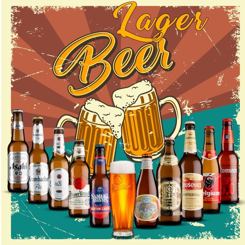 Pack Las Mejores Cervezas Lager con Vaso