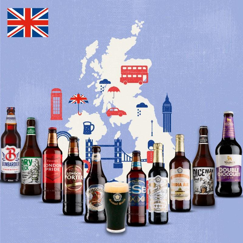 Pack Cervezas Inglesas con vaso