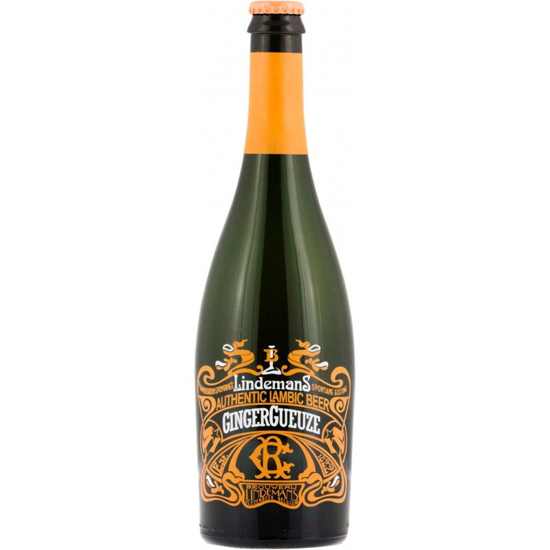 Botella 75 cl. Lindemans Ginger Gueuze 75cl
